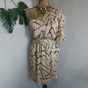 Charming Charlie One Shoulder Abstract Dress